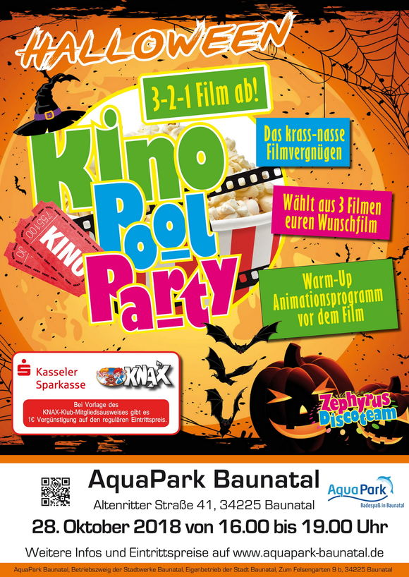 Halloween: Kino-Pool-Party