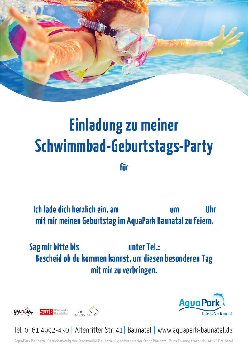 Kindergeburtstage Aquapark Baunatal